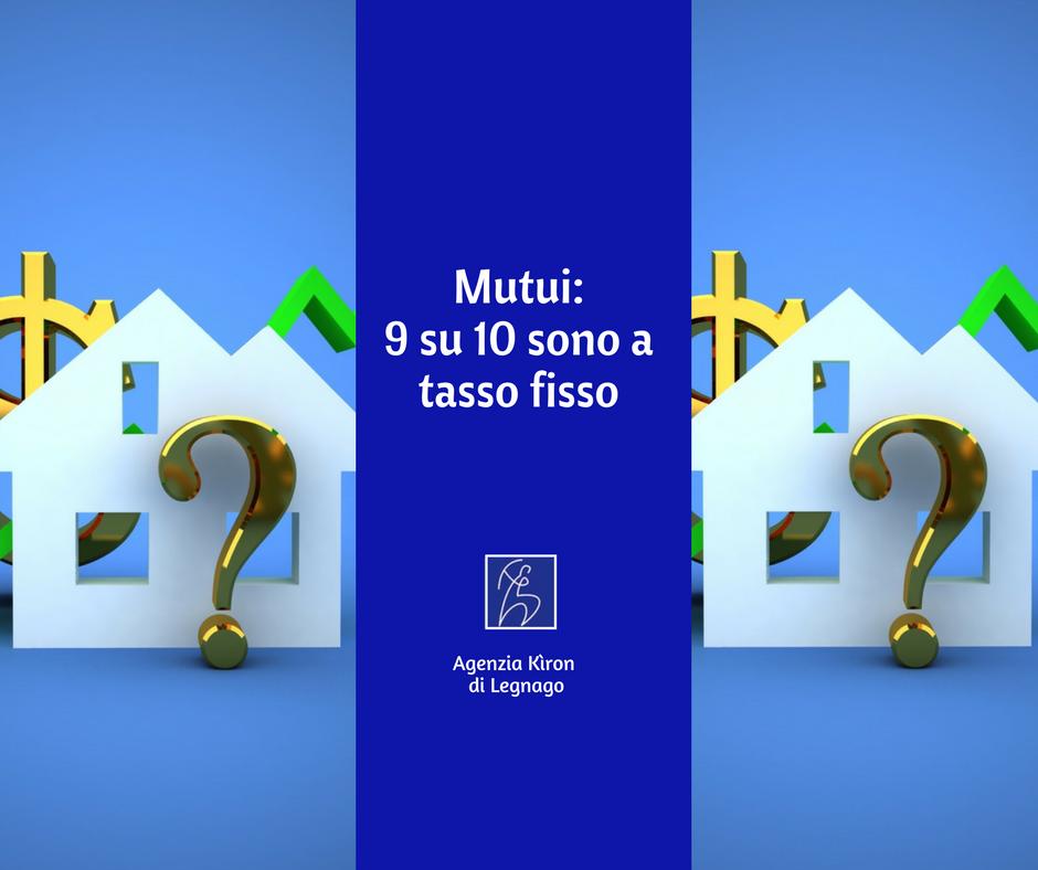Andamento dei mutui 9 su 10 sono a tasso fisso mutui rovigo for Stipulare un mutuo